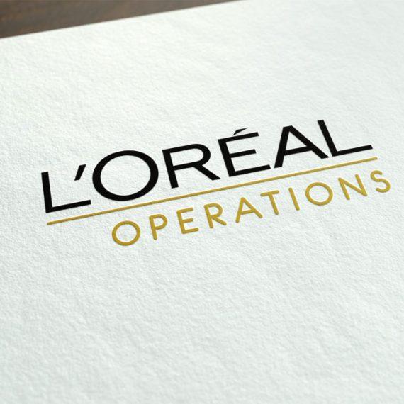 identité visuelle L'Oréal Opérations